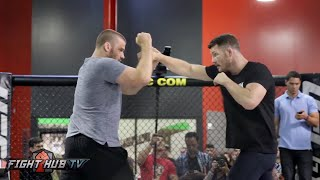 Michael Bisping's COMPLETE UFC 204 Media Workout video- Bisping vs. Henderson 2