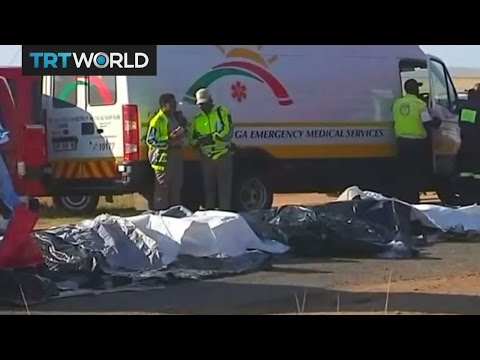 South Africa Crash: School bus collides with truck near Pretoria