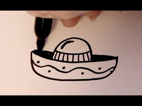 How to Draw a Cartoon Sombrero