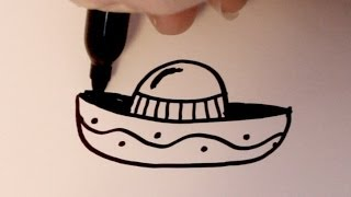 How to Draw a Cartoon Sombrero