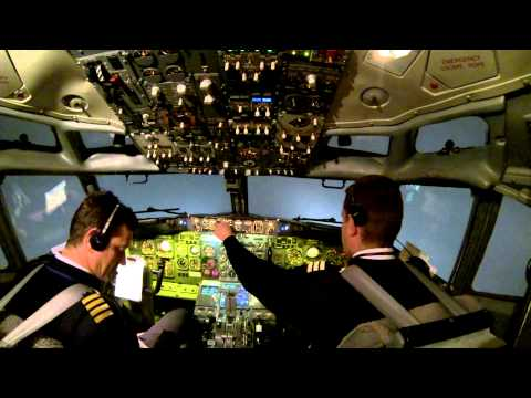 My flight to Brussels and back to Bratislava - Cockpit view, Boeing 737-300, part 1
