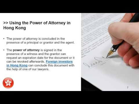 The Power of Attorney in Hong Kong