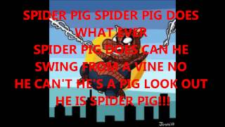 spider pig lyrics!!!