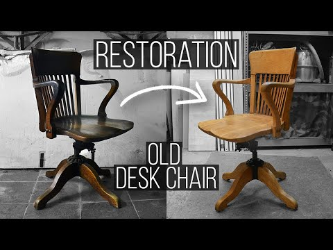 Restoring A 100 Year Old American Desk Chair