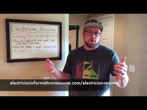 Electrician Resume – Writing Tips To Land You The Job
