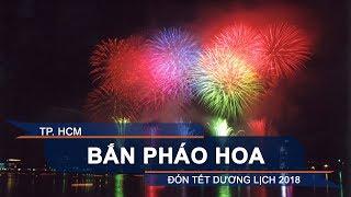 Bắn pháo hoa mừng năm mới 2018 tại cảng Nhà Rồng