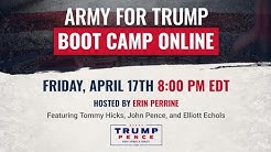 WATCH: Army for Trump Boot Camp Online with Erin Perrine!