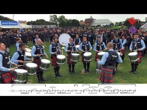 Field Marshal Montgomery Pipe Band Drum Corps MSR 2018 World Champions