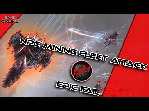 NPC Mining Fleet !!!Fail!!!   EVE Online