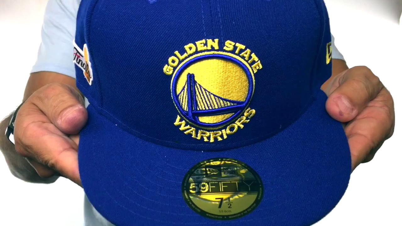 a0a2628e9f84d Warriors  2017 FINALS CHAMPIONS  Royal Fitted Hat by New Era - YouTube