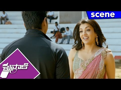Kajal Meets Vijay And Proposed To Marry - Comedy Scene - Thuppakki Movie Scenes
