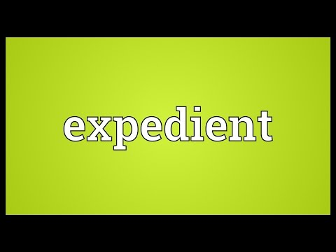 Expedient Meaning