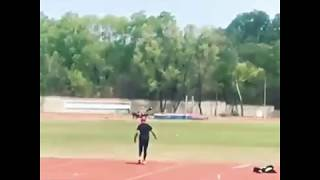 Javelin throw world record holder Neeraj chopra work out session throw