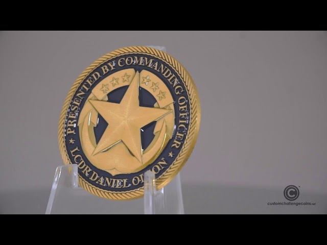 Custom Challenge Coin - USS Shamel Central Star Challenge Coin