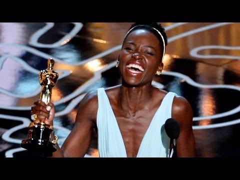 Lupita Nyong'o Emotional Best Supporting Actress Win Over Jennifer Lawrence Oscars 2014