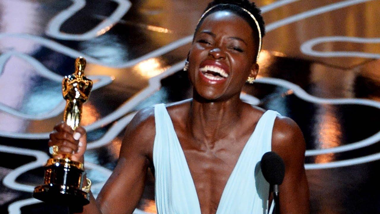 Lupita Nyong O Emotional Best Supporting Actress Win Over Jennifer Lawrence Oscars 2014 Youtube