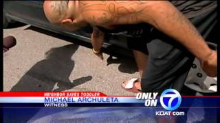 Man lifts car off 3-year-old child