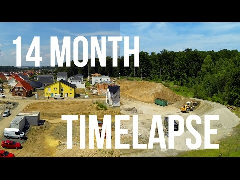 14 Month in 1 Minute - Building a Housing Estate - Timelapse