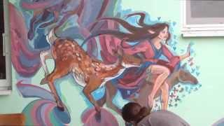 Роспись стены | Painting walls | galatea