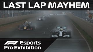 Crazy Final Lap in F1 Esports Pro Exhibition Race!