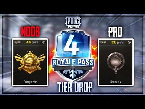 Season 4 Tier Drop Conquerer To Platinum🤨PUBG Mobile•Future Gaming