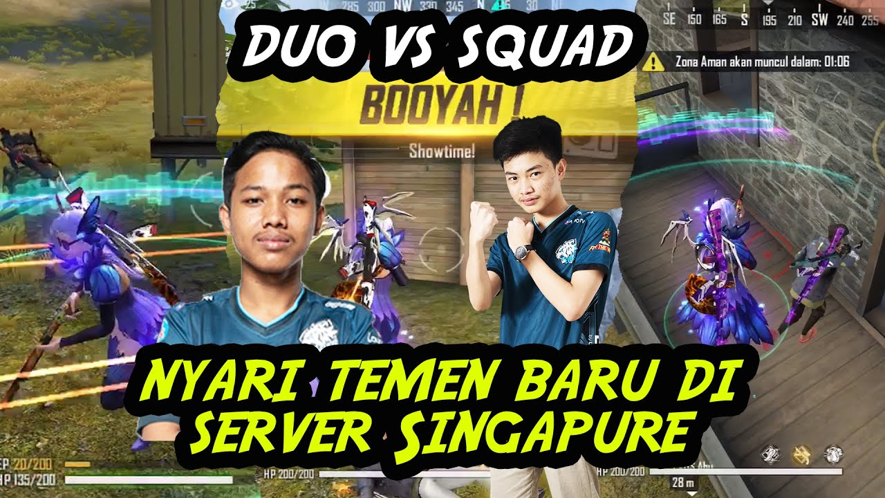 DUO VS SQUAD BARENG EVOS ABU RATAIN SETENGAN SERVER SINGAPURE