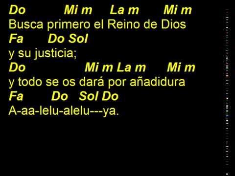 CANTOS PARA MISA - BUSCA PRIMERO - ALELUYA 4 - ACORDES