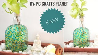 Easy Bottle painting ideas| bottle decoration ideas| bottle craft ideas| wine bottle crafts
