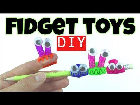 EASY DIYS - DIY FIDGET TOYS FOR BACK TO SCHOOL - EASY FOR KIDS TO MAKE USING HOUSEHOLD MATERIALS