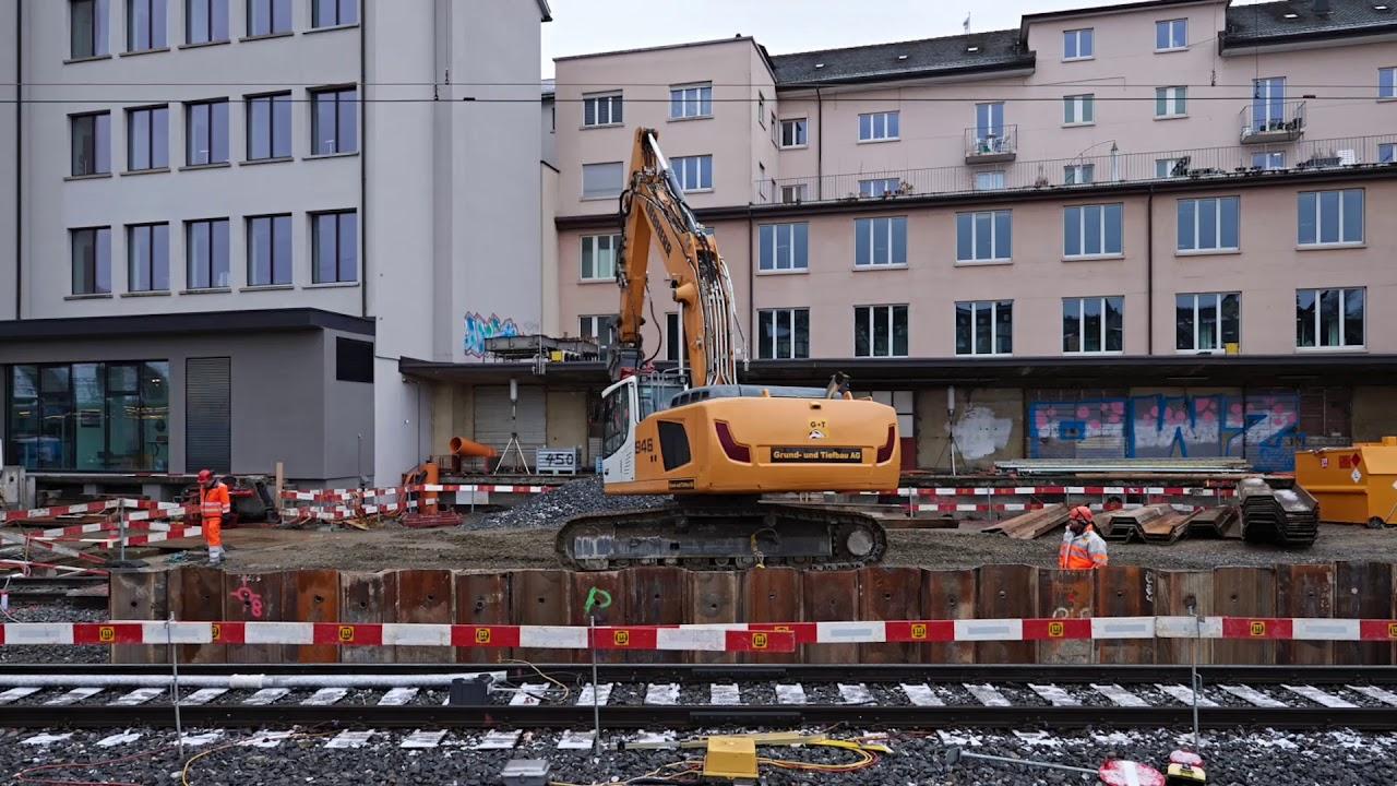 Zukunft Bahnhof Bern: Laupenstrasse - Spundwand setzen ...