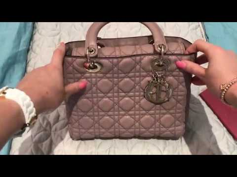 373f269fd9f Lady Dior Medium Supple Grained Calfskin Review - YouTube