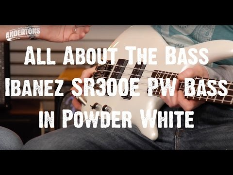 All About The Bass - Ibanez SR300E PW Bass in Powder White