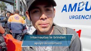 Tras una búsqueda, usuarios de redes sociales localizaron a  Miguel Córdova Córdova, quien narró lo que vivió durante el accidente de la Línea 12 del Metro, para brindarle sustento económico