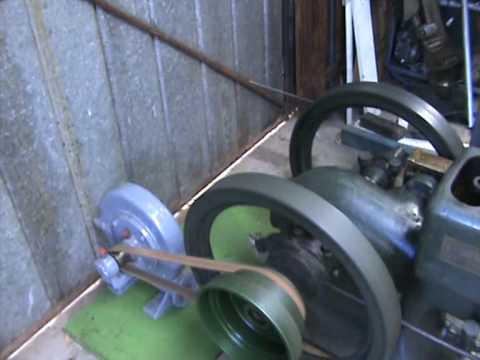 IHC 3 Hp Throttle Governed Engine running Centrifugal Blower