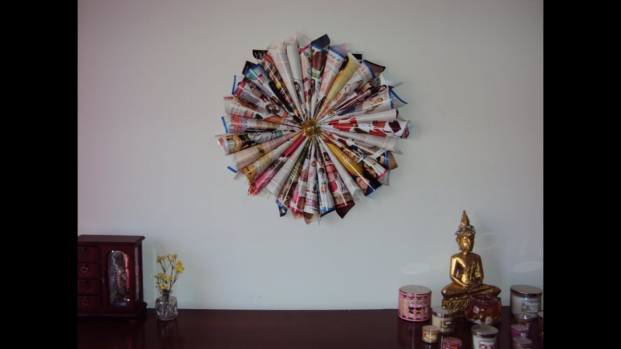 Diy magazine wall decor youtube Images of wall decoration