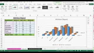 Wie erstellen Sie 3D-Säulen-Diagramm in MS Office Excel 2016