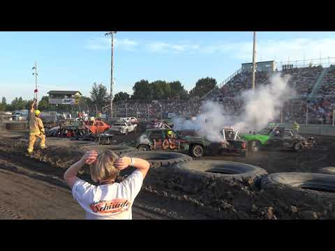 Mandan Demolition Derby 2019 - Dacotah Speedway - Stock Class