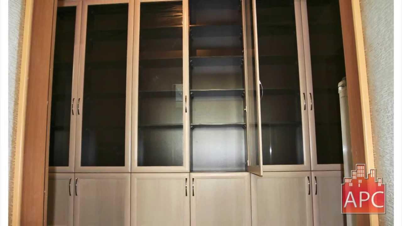Книжный корпусной шкаф 3.5м на заказ - youtube.