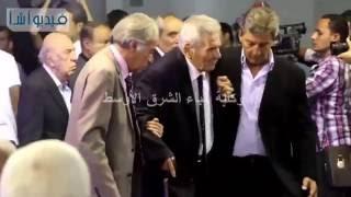 بالفيديو: بركات وهيكل وعنان وغالي بجنازة الراحل طارق سليم