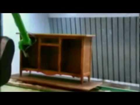 Pintura automatizada de muebles de madera youtube - Pintura para madera ...