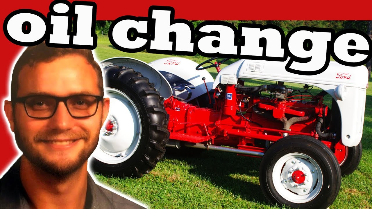 Oil Change On 1948 Ford 8n Tractor Youtube