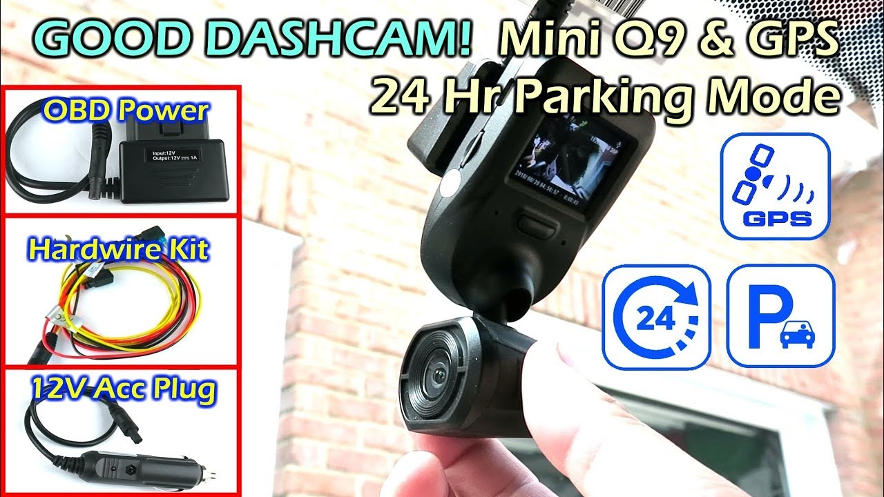 good dashcam arpenkin mini q9 gps parking mode obd hardwire power youtube. Black Bedroom Furniture Sets. Home Design Ideas