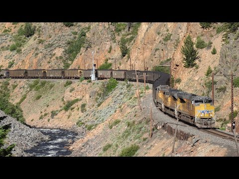 Railfanning Byers Canyon, Hot Sulphur Springs, CO! 6/23-24/18