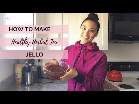 How to make Healthy Herbal Tea Jello