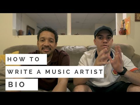 How to Write A Great Music Artist Bio | Example & Questionnaire ft. David Nazario