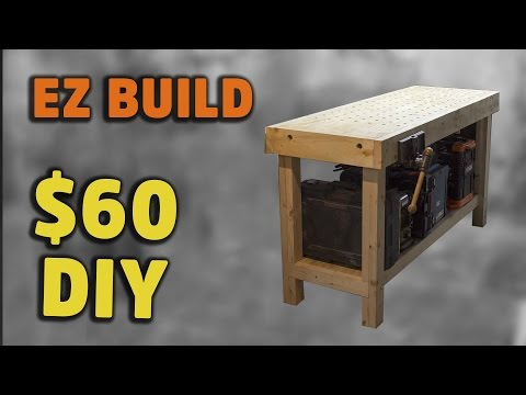 BUILD: Simple torsion box workbench with handy fixturing surface – HNB #2