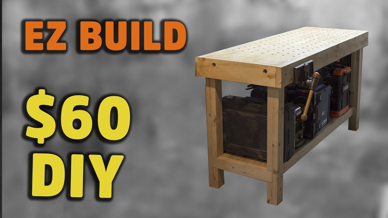 Build Simple Torsion Box Workbench With Handy Fixturing