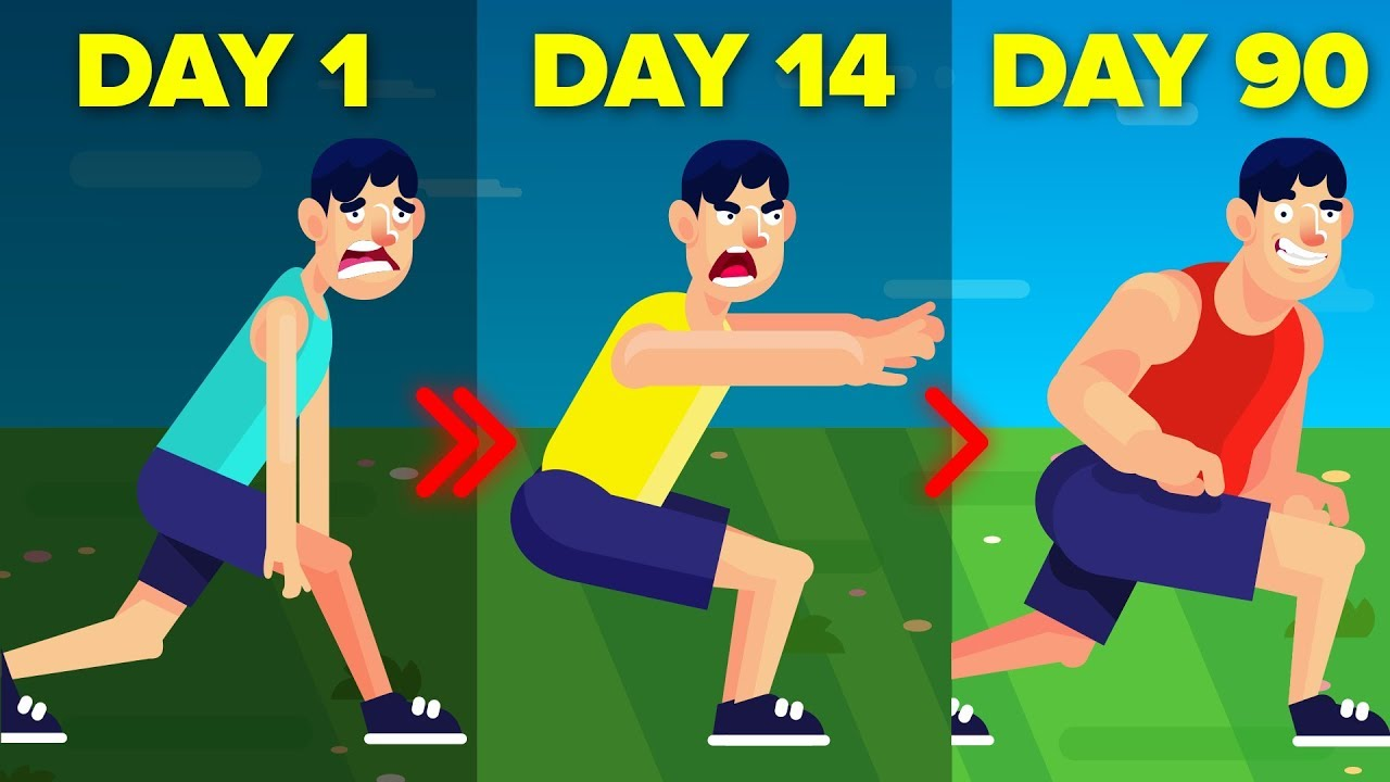 I Did Sit Ups For 90 Days And This Is What Happened || FUNNY ANIMATION CHALLENGE