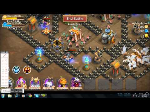 Castle Clash Dungeon 3 Tutorial 7 Shards Farming