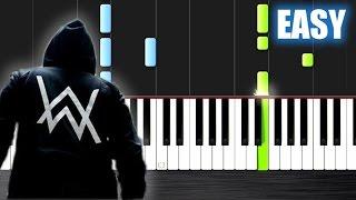 Alan Walker - Sing Me To Sleep - EASY Piano Tutorial by PlutaX